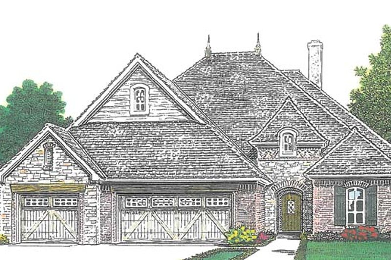 Architectural House Design - Country Exterior - Front Elevation Plan #310-1270