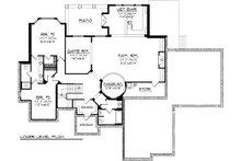Mediterranean Floor Plan - Lower Floor Plan Plan #70-1093