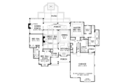 Craftsman Style House Plan - 3 Beds 2 Baths 1912 Sq/Ft Plan #929-998 Floor Plan - Main Floor Plan
