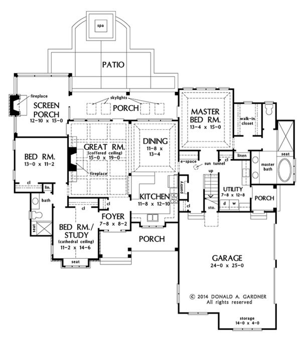 Craftsman Floor Plan - Main Floor Plan Plan #929-998