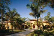Mediterranean Style House Plan - 4 Beds 4.5 Baths 5109 Sq/Ft Plan #930-98 Exterior - Front Elevation