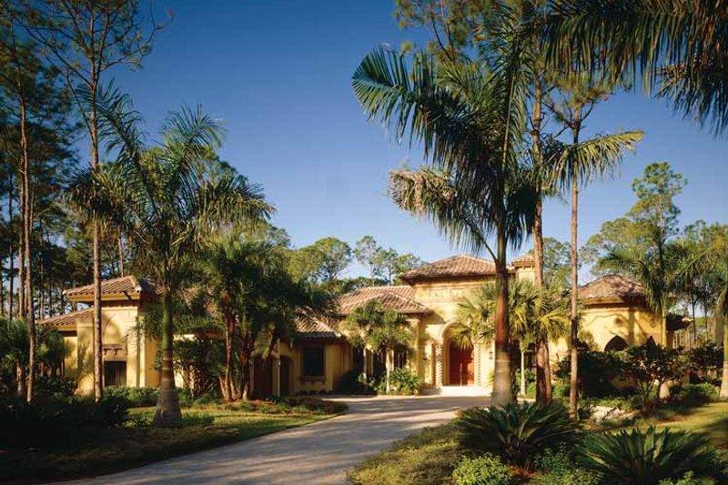 House Plan Design - Mediterranean Exterior - Front Elevation Plan #930-98