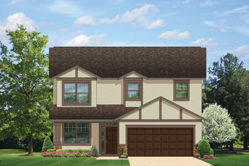 Traditional Exterior - Front Elevation Plan #1058-21 - Houseplans.com