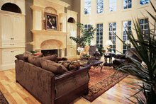 European Interior - Family Room Plan #54-181