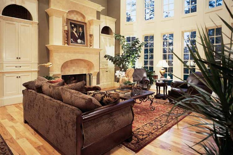 European Interior - Family Room Plan #54-181 - Houseplans.com