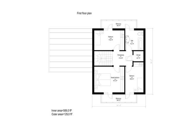 European Floor Plan - Upper Floor Plan Plan #549-9