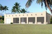 Adobe / Southwestern Style House Plan - 1 Beds 1 Baths 680 Sq/Ft Plan #1-251