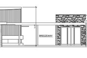 Contemporary Style House Plan - 3 Beds 3 Baths 1350 Sq/Ft Plan #484-12 Exterior - Other Elevation