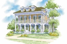 Classical Exterior - Front Elevation Plan #930-400
