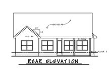 Architectural House Design - Craftsman Exterior - Rear Elevation Plan #20-2269