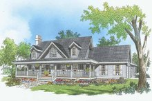 Dream House Plan - Country Exterior - Front Elevation Plan #929-208