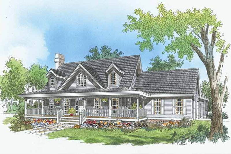 Country Exterior - Front Elevation Plan #929-208
