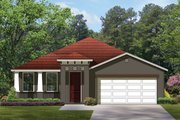 Craftsman Style House Plan - 4 Beds 3 Baths 2296 Sq/Ft Plan #1058-60 Exterior - Front Elevation
