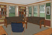 Craftsman Style House Plan - 2 Beds 2 Baths 1600 Sq/Ft Plan #454-13 Interior - Family Room