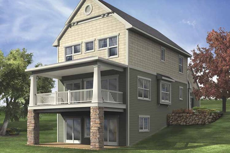 Country Exterior - Rear Elevation Plan #928-110
