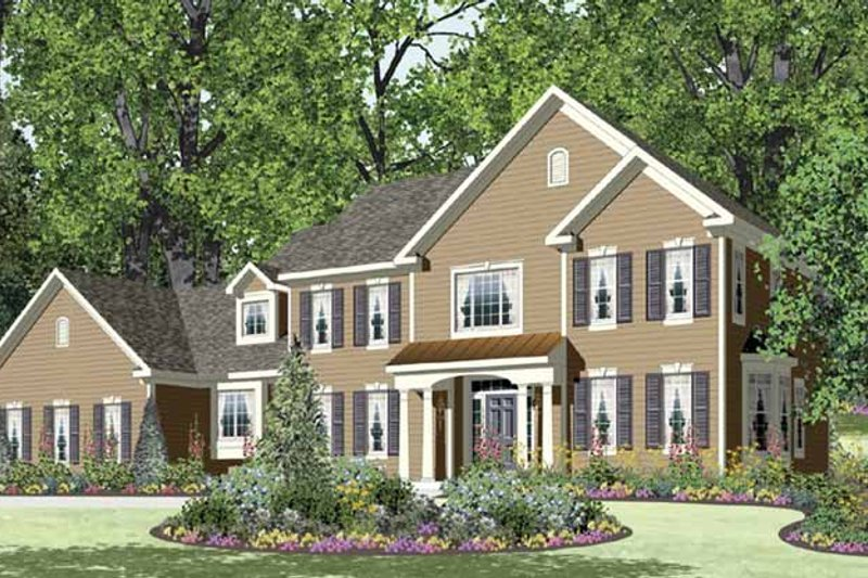 Traditional Exterior - Front Elevation Plan #328-464 - Houseplans.com