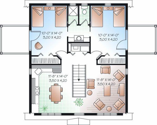 Country Floor Plan - Upper Floor Plan #23-756