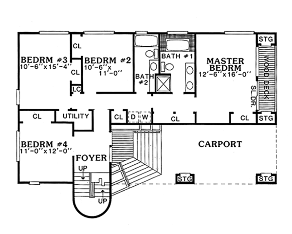 Contemporary Floor Plan - Main Floor Plan Plan #314-280