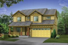 Dream House Plan - Craftsman Exterior - Front Elevation Plan #569-21
