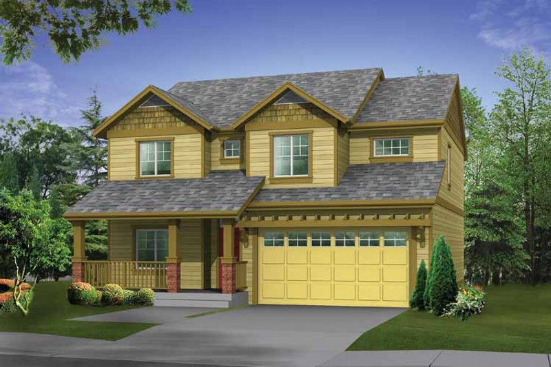 Craftsman Exterior - Front Elevation Plan #569-21 - Houseplans.com