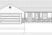 Ranch Style House Plan - 5 Beds 3.5 Baths 3056 Sq/Ft Plan #1060-16 Exterior - Front Elevation