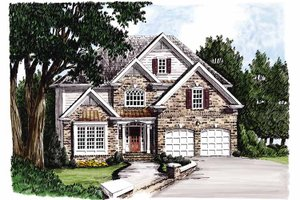 House Blueprint - Traditional Exterior - Front Elevation Plan #927-100