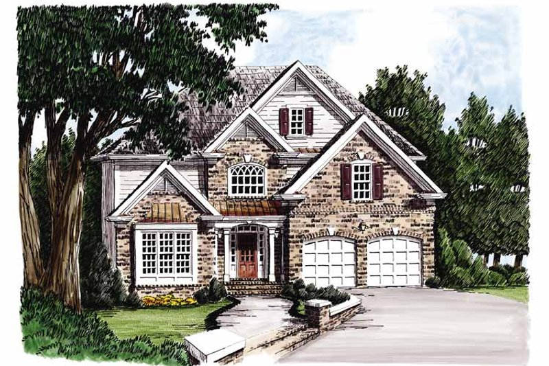 Traditional Style House Plan - 4 Beds 3 Baths 2275 Sq/Ft Plan #927-100 Exterior - Front Elevation