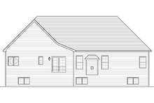 Ranch Exterior - Rear Elevation Plan #1010-34
