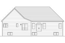 Architectural House Design - Ranch Exterior - Rear Elevation Plan #1010-34