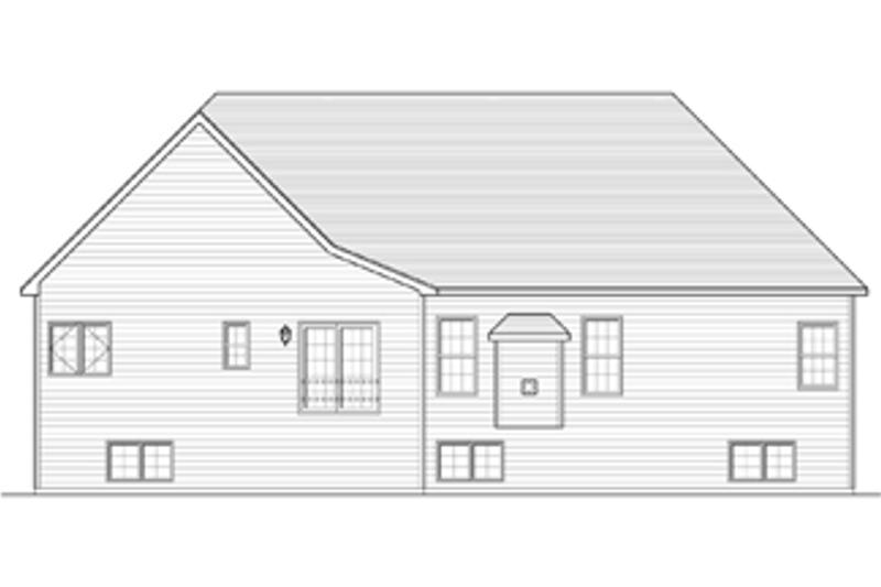 Ranch Exterior - Rear Elevation Plan #1010-34 - Houseplans.com