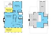 Cottage Style House Plan - 3 Beds 2 Baths 983 Sq/Ft Plan #489-5 Floor Plan - Main Floor Plan