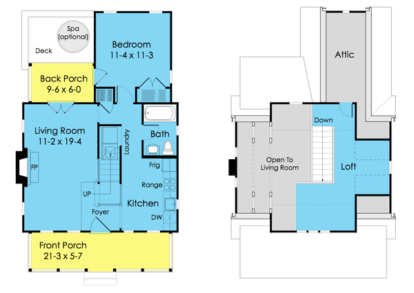 Dream House Plan - Cottage Floor Plan - Main Floor Plan #489-5