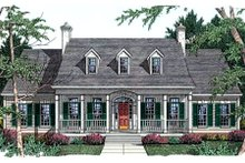House Plan Design - Southern Exterior - Front Elevation Plan #406-225