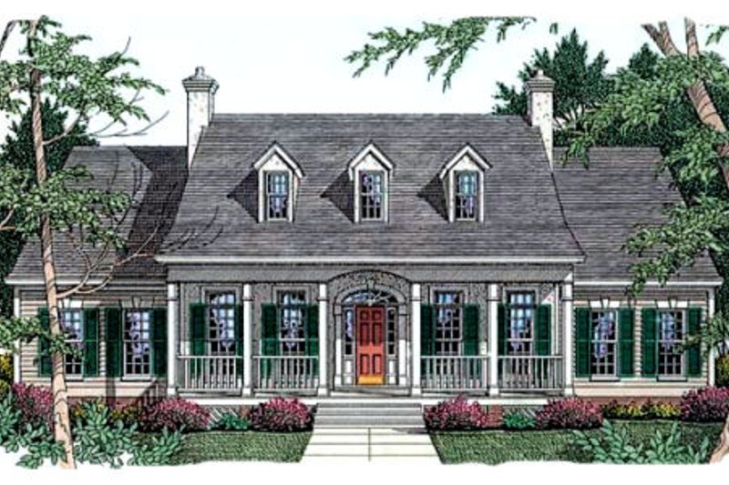 Southern Exterior - Front Elevation Plan #406-225 - Houseplans.com
