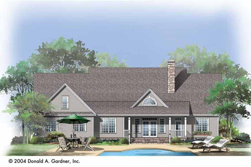 Bungalow Exterior - Rear Elevation Plan #929-720 - Houseplans.com