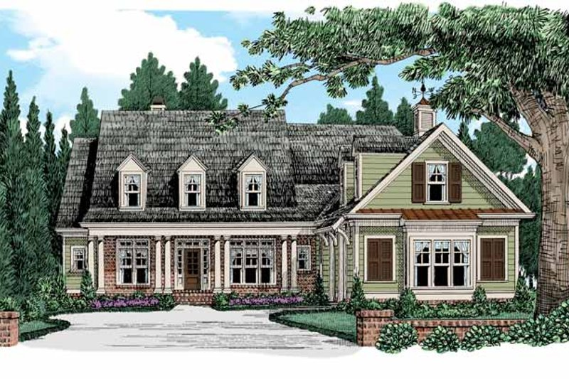 Country Exterior - Front Elevation Plan #927-942 - Houseplans.com