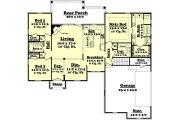 European Style House Plan - 3 Beds 2 Baths 1750 Sq/Ft Plan #430-42 Floor Plan - Main Floor Plan