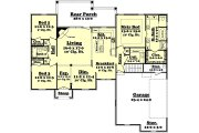 European Style House Plan - 3 Beds 2 Baths 1750 Sq/Ft Plan #430-42 Floor Plan - Main Floor Plan