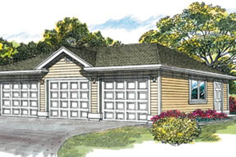 Traditional Exterior - Front Elevation Plan #47-491