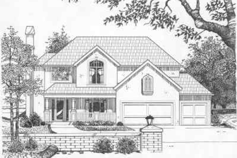 Traditional Style House Plan - 4 Beds 2.5 Baths 2643 Sq/Ft Plan #6-134