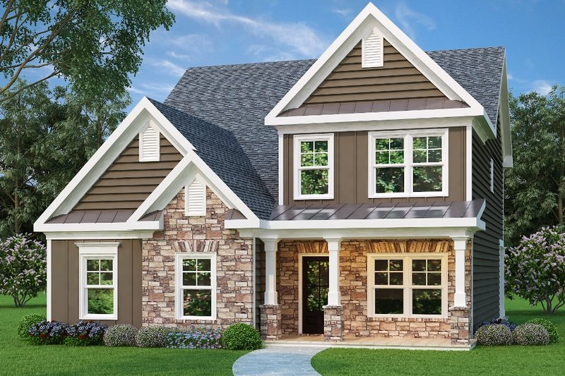 Home Plan - Craftsman Exterior - Front Elevation Plan #419-207