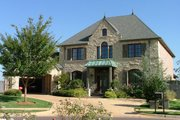 European Style House Plan - 4 Beds 3.5 Baths 4124 Sq/Ft Plan #310-344 Exterior - Front Elevation