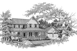House Plan Design - Country Exterior - Front Elevation Plan #41-120
