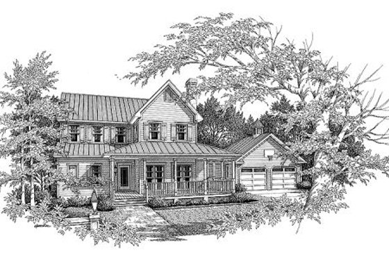 Country Exterior - Front Elevation Plan #41-120