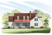Southern Style House Plan - 4 Beds 3 Baths 2419 Sq/Ft Plan #137-169 Exterior - Rear Elevation