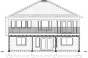 Mediterranean Style House Plan - 4 Beds 3 Baths 2895 Sq/Ft Plan #126-160 Exterior - Rear Elevation
