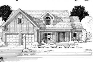 Colonial Exterior - Front Elevation Plan #46-407