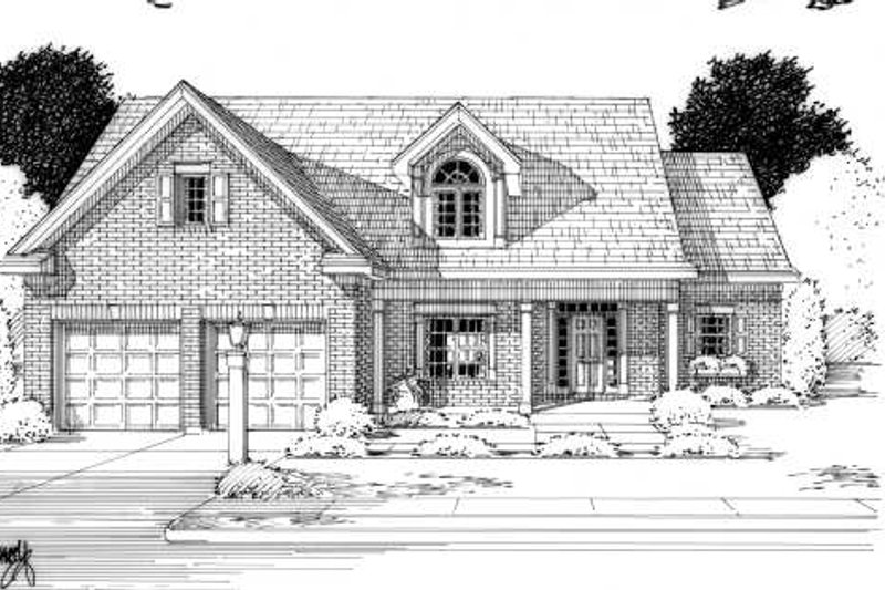 Colonial Exterior - Front Elevation Plan #46-407 - Houseplans.com