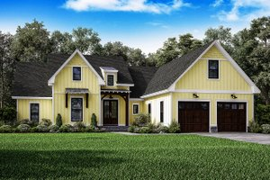 Farmhouse Exterior - Front Elevation Plan #1067-1