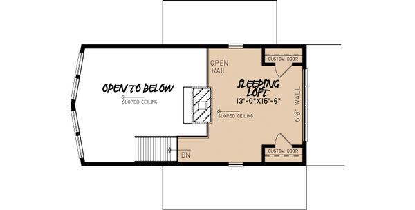 Contemporary Floor Plan - Upper Floor Plan Plan #923-6